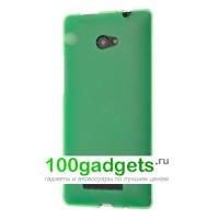 Силиконовый чехол зеленый для HTC Windows Phone 8X