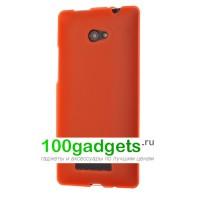 Силиконовый чехол оранжевый для HTC Windows Phone 8X