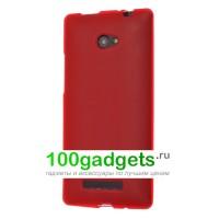 Силиконовый чехол красный для HTC Windows Phone 8X