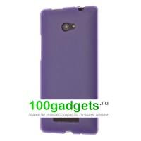 Силиконовый чехол фиолетовый для HTC Windows Phone 8X