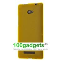 Силиконовый чехол желтый для HTC Windows Phone 8X