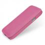 Вертикальная книжка (нат. кожа) для Samsung Galaxy S4 Mini розовая