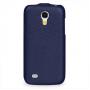 Вертикальная книжка (нат. кожа) для Samsung Galaxy S4 Mini синяя