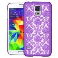 Пластиковый узорный чехол для Samsung Galaxy S5 Фиолетовый