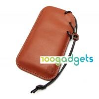 Кожаный мешок с ремнем-затяжкой для Nokia Lumia 1020 Коричневый