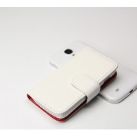 Чехол портмоне подставка для Samsung Galaxy Ace 3 Белый