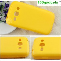 Силиконовый чехол для Samsung Galaxy Ace 3 Желтый