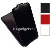 Чехол вертикальная книжка с магнитной застежкой для Samsung Galaxy Ace 3 Черный