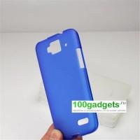 Силиконовый чехол для Alcatel One Touch Idol Mini Синий