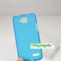 Силиконовый чехол для Alcatel One Touch Idol Mini Голубой