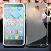 Силиконовый чехол S для Alcatel One Touch Idol S Серый