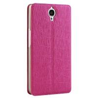 Чехол флип подставка текстурный на присоске для Alcatel One Touch Idol X+ Розовый
