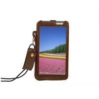 Кожаный чехол бампер подвеска подставка для Asus Fonepad Note 6 Коричневый