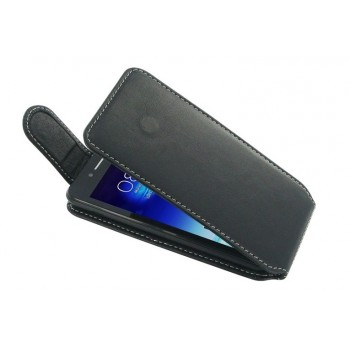 Кожаный чехол книжка вертикальная клеевая (нат. кожа) для Asus PadFone mini 4.3