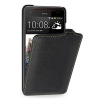 Кожаный чехол книжка вертикальная (нат. кожа) для HTC Butterfly S Черный