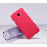 Пластиковый матовый премиум чехол для HTC Butterfly S Красный