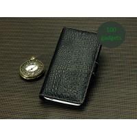 Кожаный чехол портмоне (нат. кожа крокодила) для HTC Butterfly S Черный