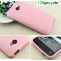 Силиконовый чехол для HTC Butterfly S Розовый