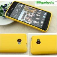 Силиконовый чехол для HTC Butterfly S Желтый