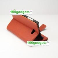 Чехол портмоне подставка для HTC Butterfly S Коричневый