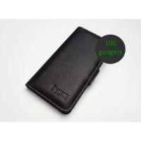 Кожаный чехол портмоне (нат. кожа) для HTC Desire 600 Черный