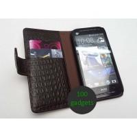 Кожаный чехол портмоне (нат. кожа крокодила) для HTC Desire 600