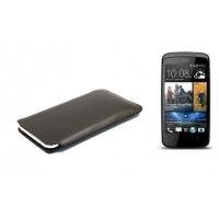 Кожаный мешок для HTC Desire 500 Черный