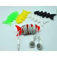 Антизапутыватель для кабеля/наушников дизайн Рыбка для Sony Xperia E4g (dual, E2053, E2006, E2003, E2043, E2033)