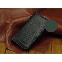 Кожаный чехол портмоне (нат. кожа крокодила) для Fly IQ4410 Quad Phoenix