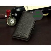 Кожаный чехол портмоне (нат. кожа крокодила) для Fly IQ453 Luminor Коричневый