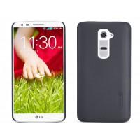 Пластиковый матовый премиум чехол для LG Optimus G2 Черный
