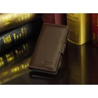 Кожаный чехол портмоне (нат. кожа) для LG Optimus G2 Коричневый