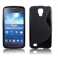Силиконовый чехол S для Samsung Galaxy S4 Active Черный