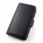 Кожаный чехол книжка горизонтальная портмоне (нат. кожа) для Samsung Galaxy Win GT-I8552