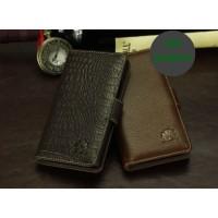 Кожаный чехол портмоне (нат. кожа крокодила) для Huawei Honor 3