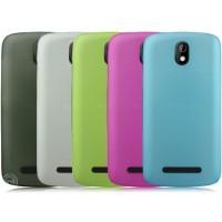 Пластиковая накладка полупрозрачная для HTC Desire 500