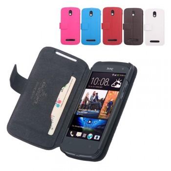 Чехол книжка горизонтальная с магнитной застежкой для HTC Desire 500
