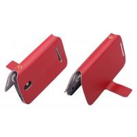 Чехол книжка горизонтальная с магнитной застежкой для HTC Desire 500 Красный