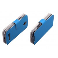 Чехол книжка горизонтальная с магнитной застежкой для HTC Desire 500 Голубой