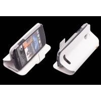 Чехол книжка горизонтальная с магнитной застежкой для HTC Desire 500 Белый