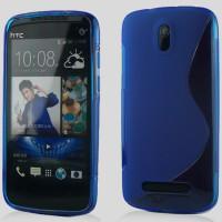 Силиконовый чехол S для HTC Desire 500 Голубой
