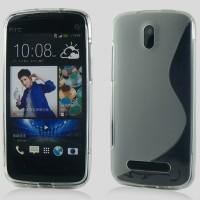 Силиконовый чехол S для HTC Desire 500 Черный