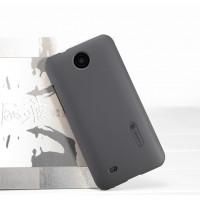Пластиковый матовый премиум чехол для HTC Desire 300 Черный