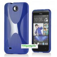 Силиконовый чехол X для HTC Desire 300 Голубой