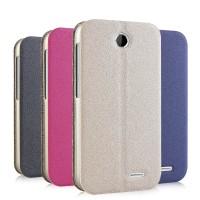 Чехол флип подставка текстурный на присоске для HTC Desire 310