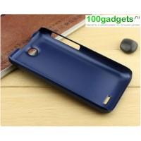 Пластиковый матовый чехол для HTC Desire 310 Синий