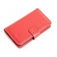 Кожаный чехол портмоне (нат. кожа) для HTC Desire 400 Dual SIM Красный