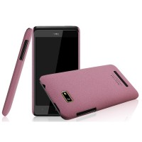Пластиковый матовый чехол для HTC Desire 400 Dual SIM Розовый