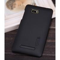 Пластиковый матовый премиум чехол для HTC Desire 400 Dual SIM Черный