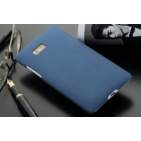 Пластиковый матовый чехол для HTC Desire 600 Синий